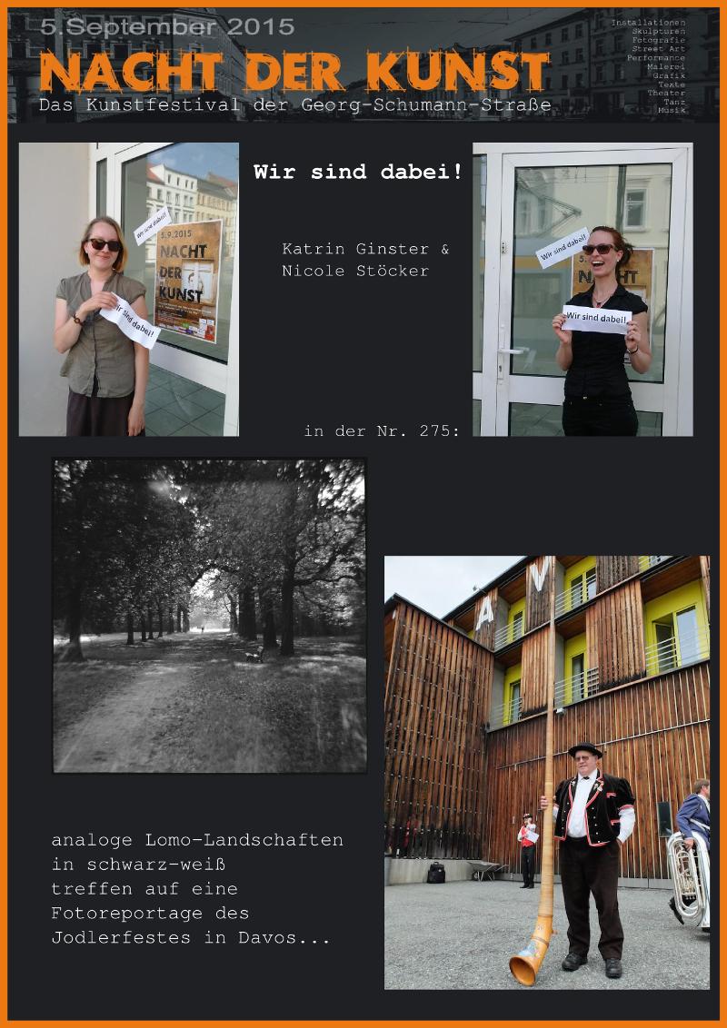 Plakat: Nicole Stöcker und Katrim Ginster