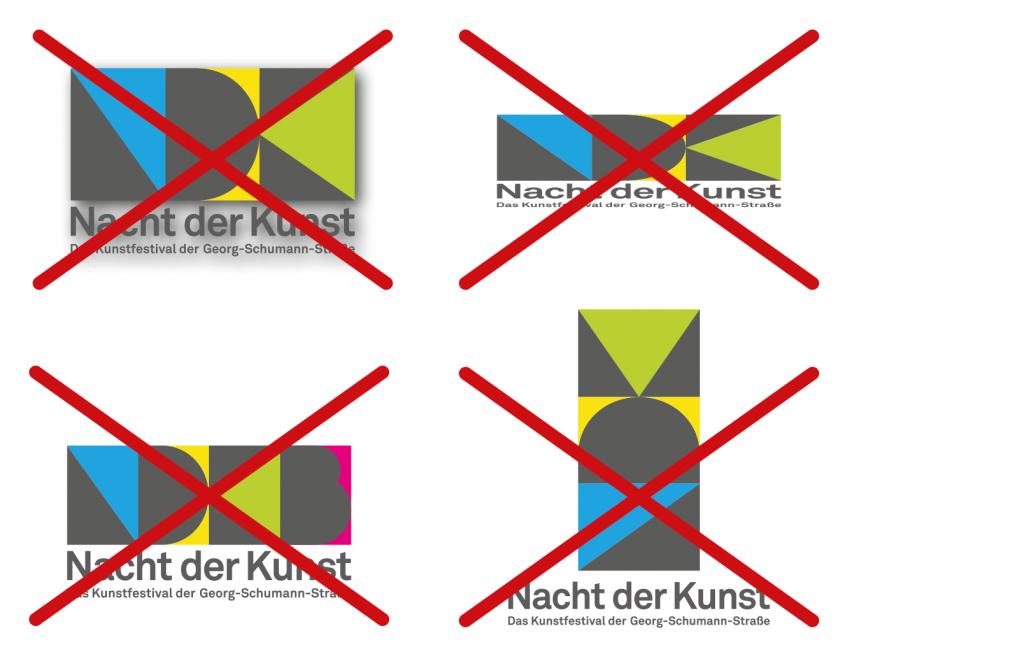 Logo nicht verzerren oder Stauen oder Elemente zueinander ändern