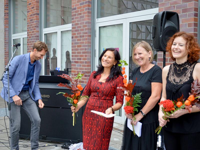 v.l.n.r. Falko Langer, Vorsitzender Förderverein Georg-Schumann-Straße e.V. sowie das Organisationsteam 2018 Monika Maywald, Kerstin Herrlich und Romy Ebert