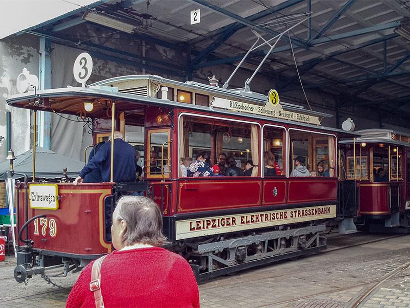 Die AG »Historische Nahverkehrsmittel Leipzig« e. V. beteiligte sich in diesem Jahr als Standort mit dem Museum.